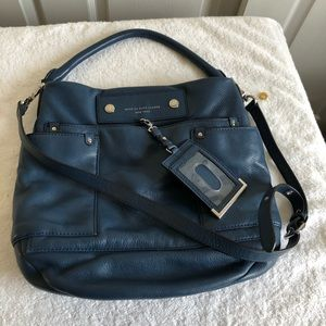 Marc Jacobs Fine Blue Leather Hand / Shoulder Bag